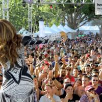 Deborah Cox performing at LA Pride 2014