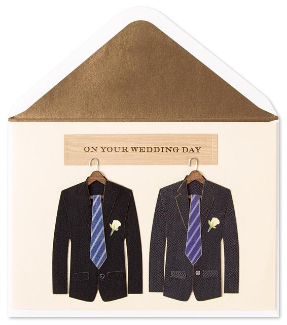 Same-sex wedding card
