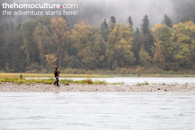 Salmon fishing on Harrison River