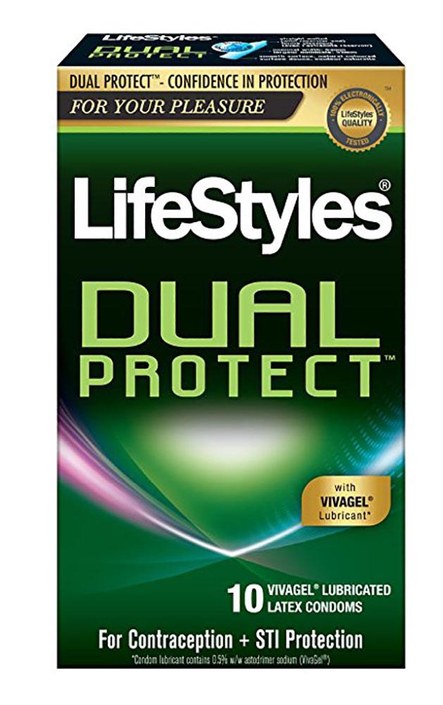 Lifestyles Dual Protect antiviral condom