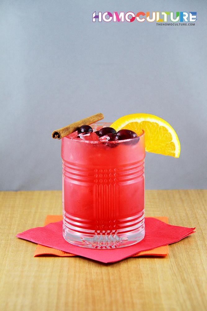 Cranberry cinnamon whisky sour
