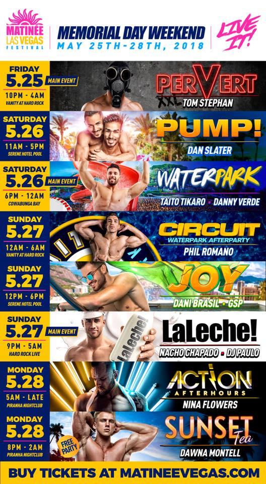 Matinee Las Vegas 2018 lineup