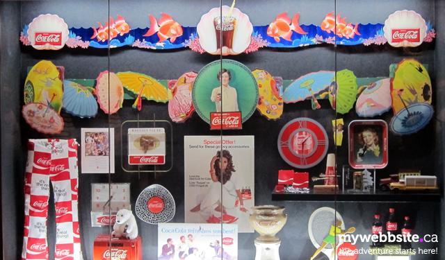 Advertising artifacts on display at the World of Coca-Cola in Atlanta, GA