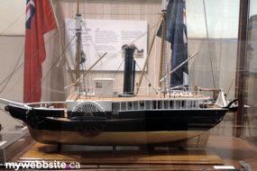 model ships at the Royal BC Museum