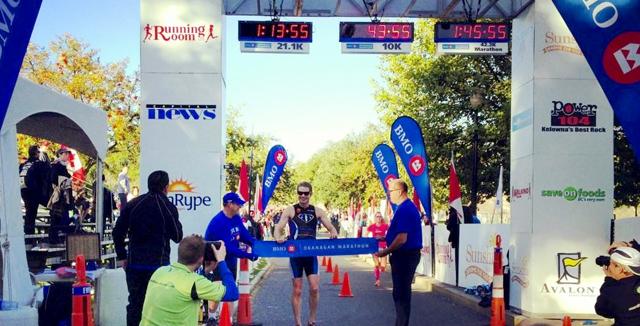 BMO Okanagan Marathon Finish Line