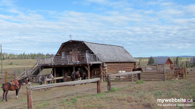 The horse barn at Big Bar Guest Ranch