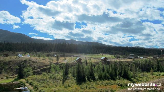 Accommodations and panoramic views at Big Bar Guest Ranch