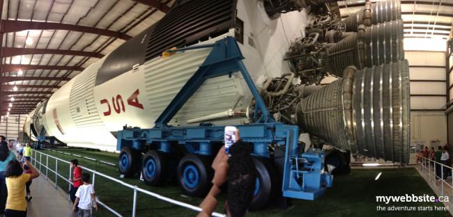 Saturn V rocket at Space Centre Houston