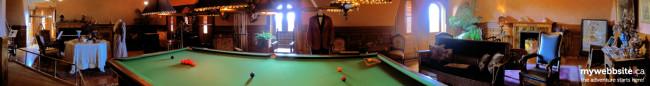 The billiard room inside the Craigdarroch Castle in Victoria, BC