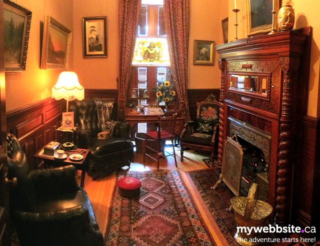 A parlour inside the Craigdarroch Castle in Victoria, BC