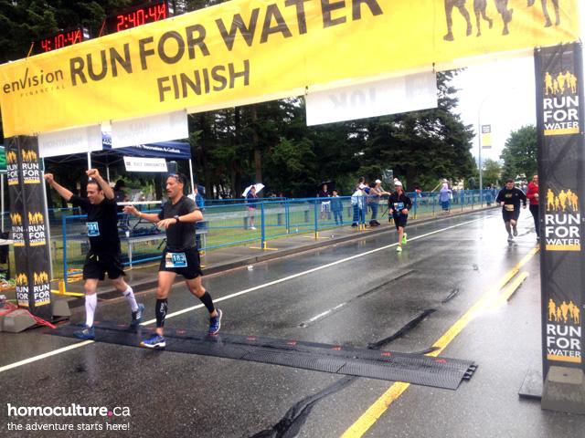 2014 Abbotsford Run for Water Marathon finish