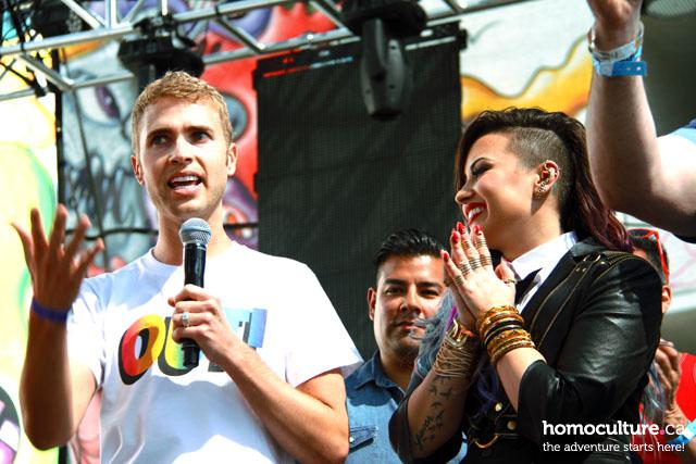 Demi Lovato and Share Bitney Cone at LA Pride 2014