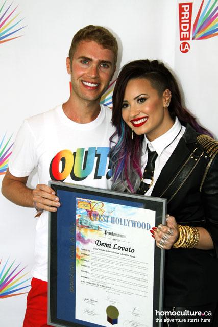 Demi Lovato and Shane Bitney Stone at LA Pride 2014