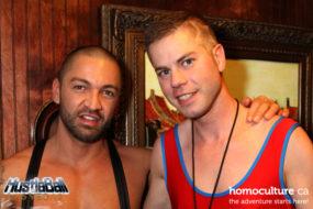 Dominic Pacifico and Brian Webb at HustlaBall Las Vegas main event