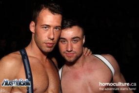 Brandon Jones and his boyfriend Sebastian, at HustlaBall Las Vegas main event