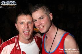Jake Shears and Brian Webb at HustlaBall Las Vegas main event