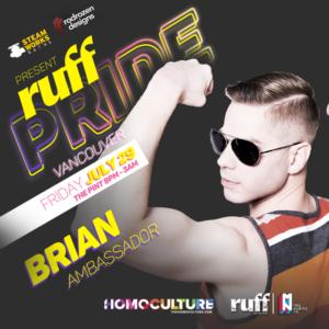 Ruff Pride 2016 Brian Webb ambassador
