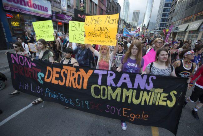 Toronto Pride Trans March 2016