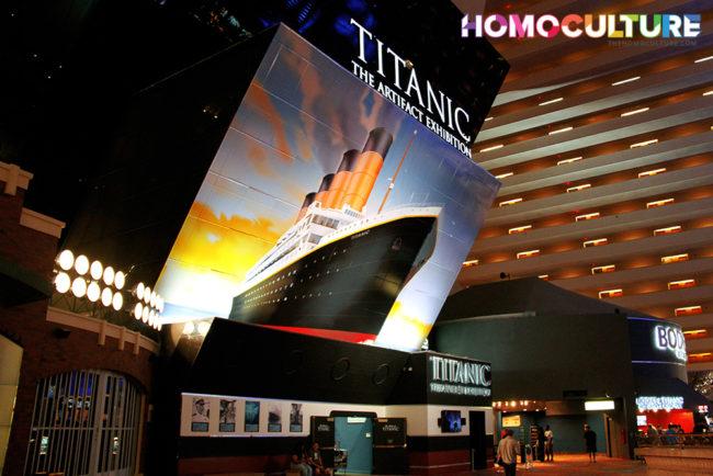 The Titanic exhibit at the Luxor Hotel in Las Vegas