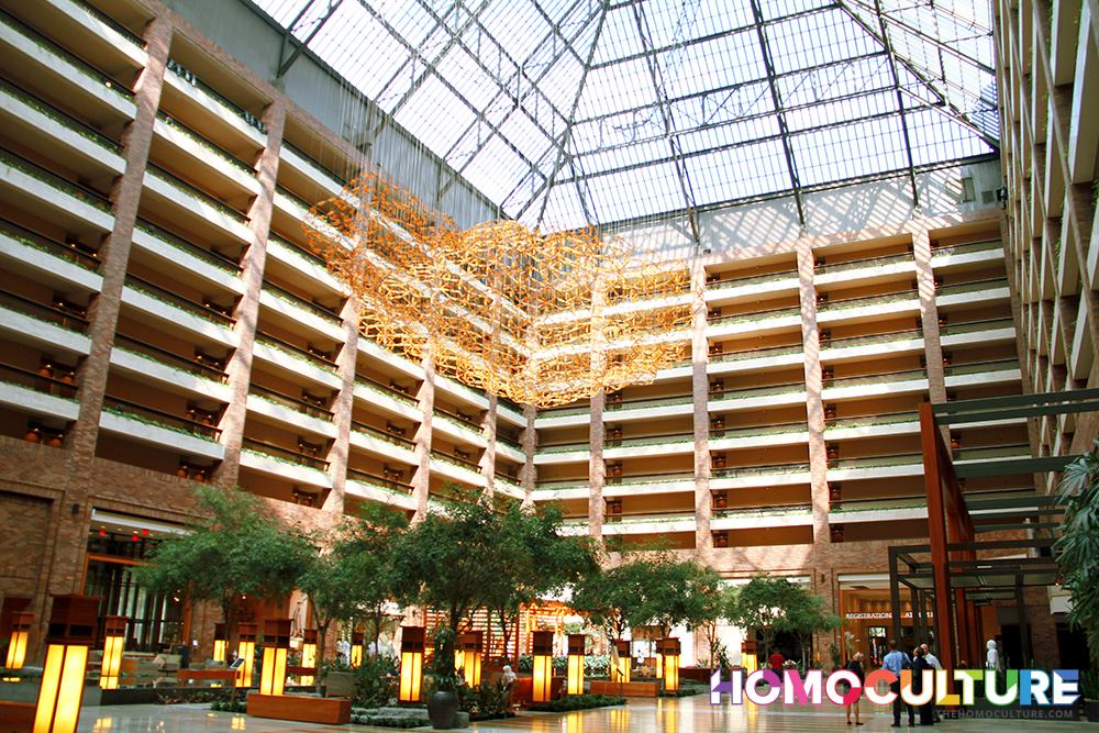 Atrium at the Hilton Anatole Hotel, Dallas Texas