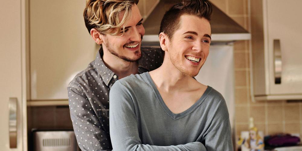 happy gay couple