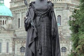 Queen Victoria statue on the lawn of the Provincial Legislature in Victoria, BC.