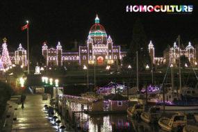 The Legislature lit up for Christmas.