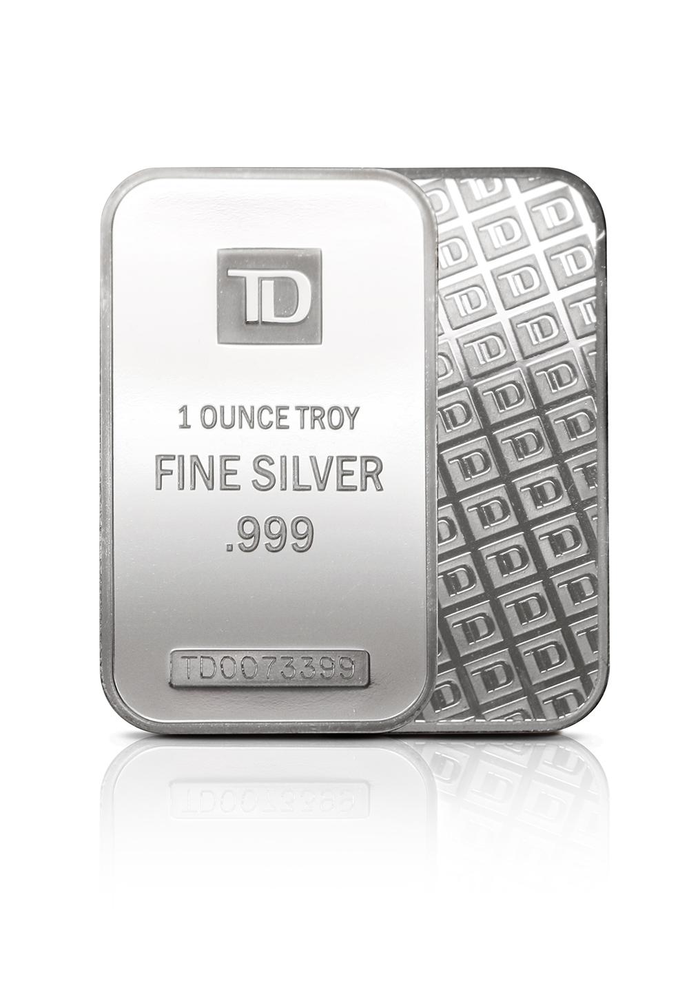 1oz TD silver bar