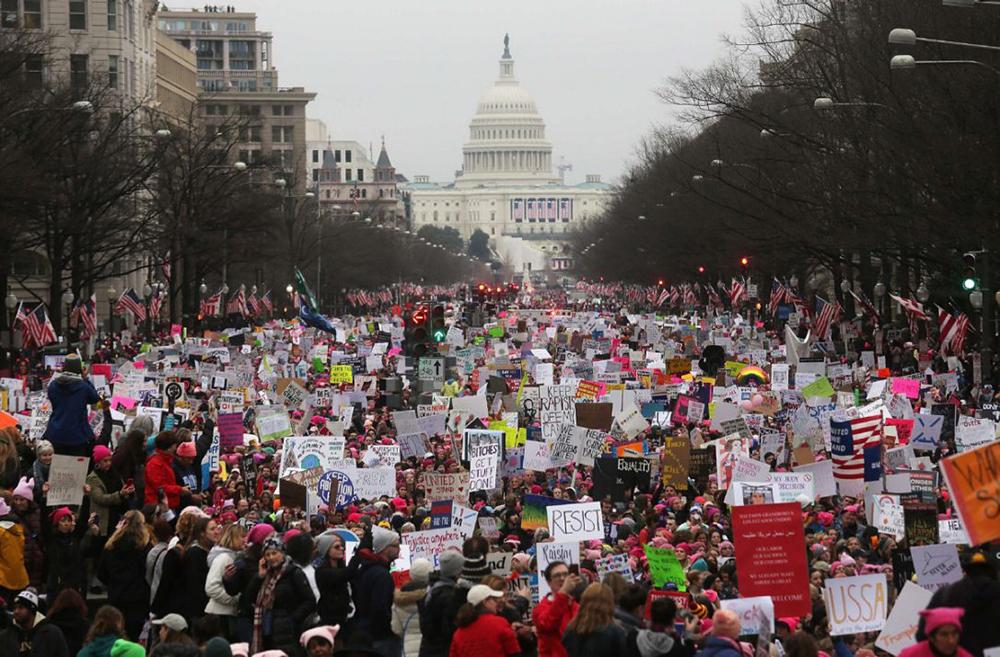 Trump women's rights protest in Washington, D.C.
