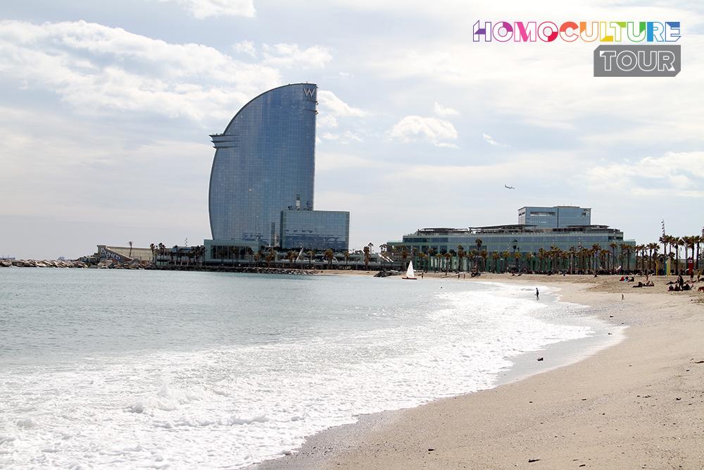 The beaches of Barcelona, Spain