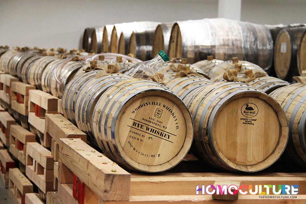 Okanagan Spirits Craft Distillery whisky barrels
