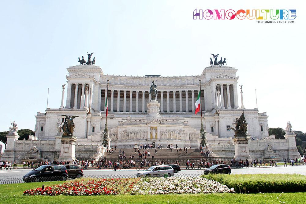 The Altare della Patria or the Monumento Nazionale a Vittorio Emanuele