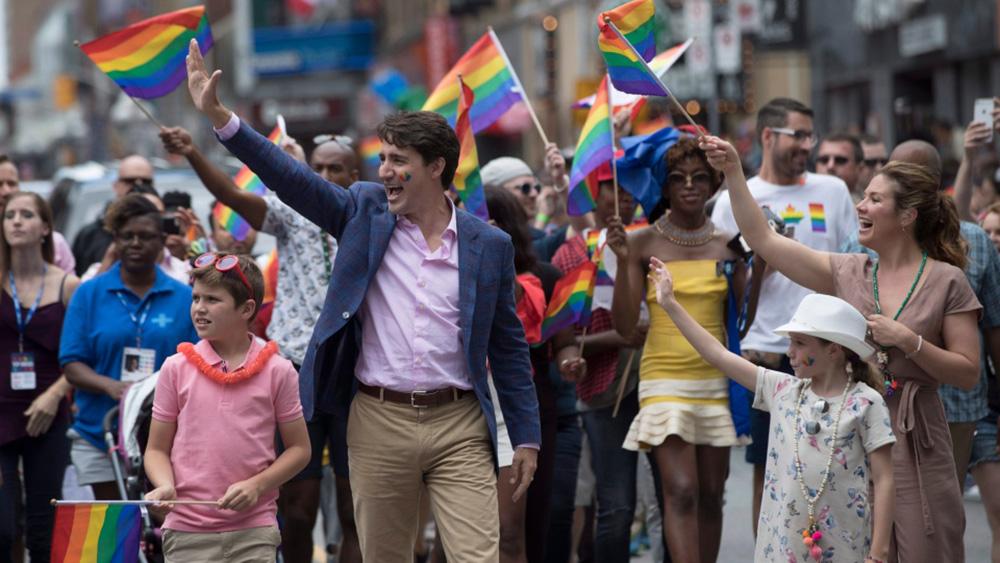 Prime Minister Justin Trudeau at Toronto Pride 2017