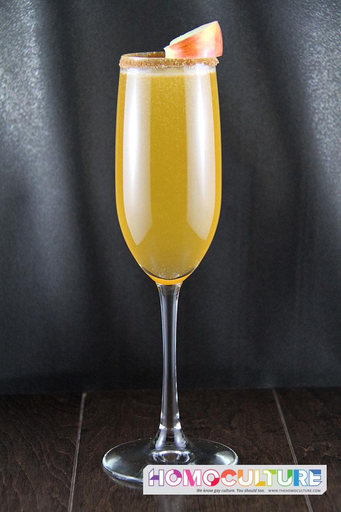 Apple Cider Mimosa, Broskies, hangover, brunch, apple cider, sparkling wine, champagne, basic, Sunday Funday